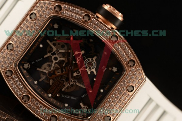 Richard Mille RM035-02 Americas Japanese Miyota 9015 Auto Skeleton Dial With Rose Gold Case RM035-02